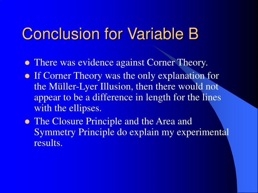 Conclusion for Variable B