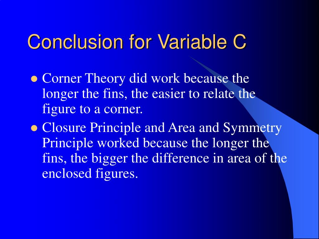 Conclusion for Variable C