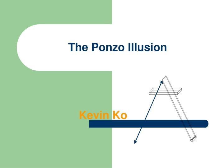 The ponzo illusion
