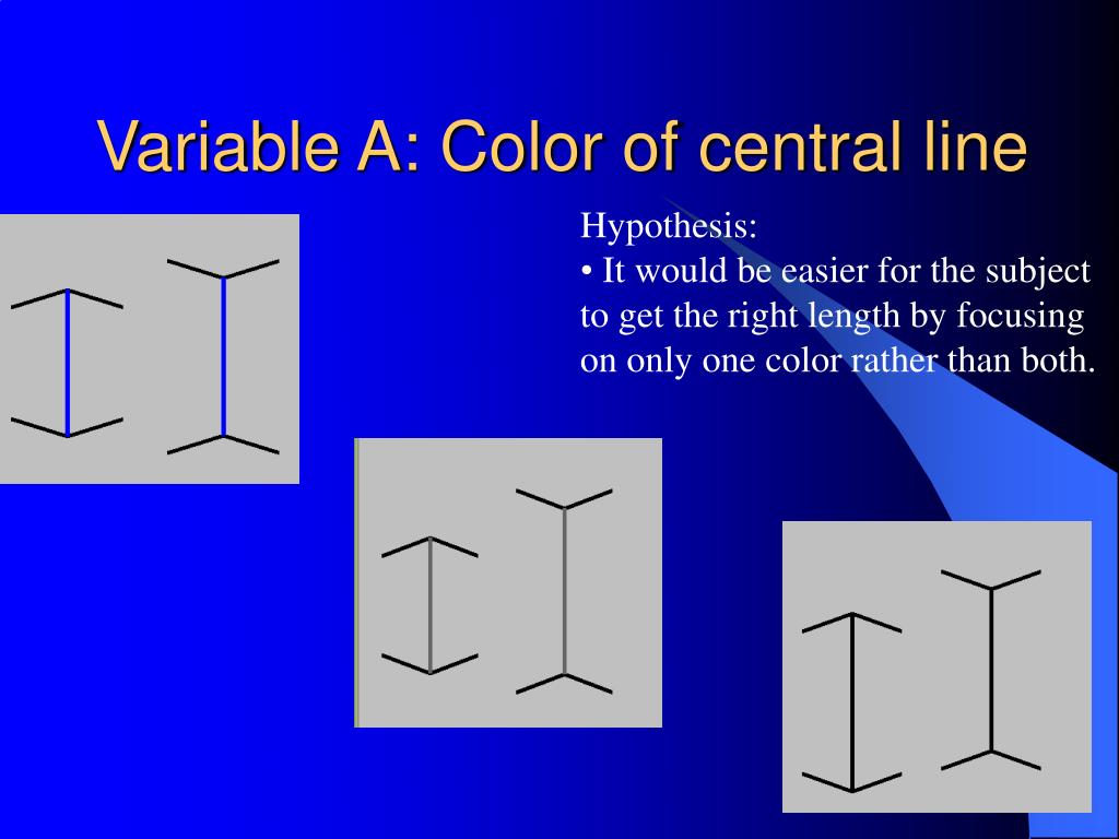 Variable A: Color of central line