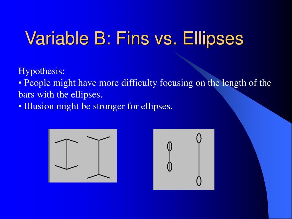 Variable B: Fins vs. Ellipses