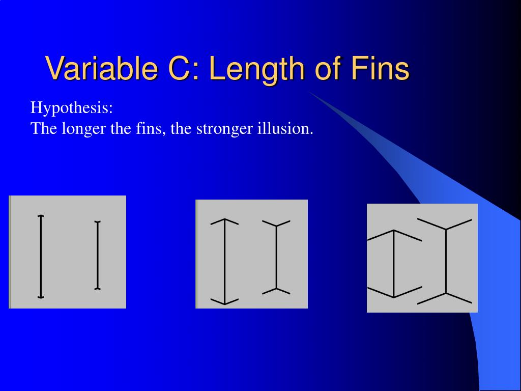 Variable C: Length of Fins