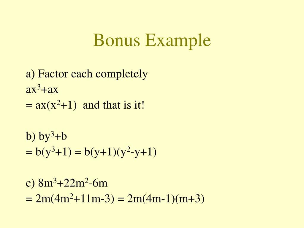 Bonus Example