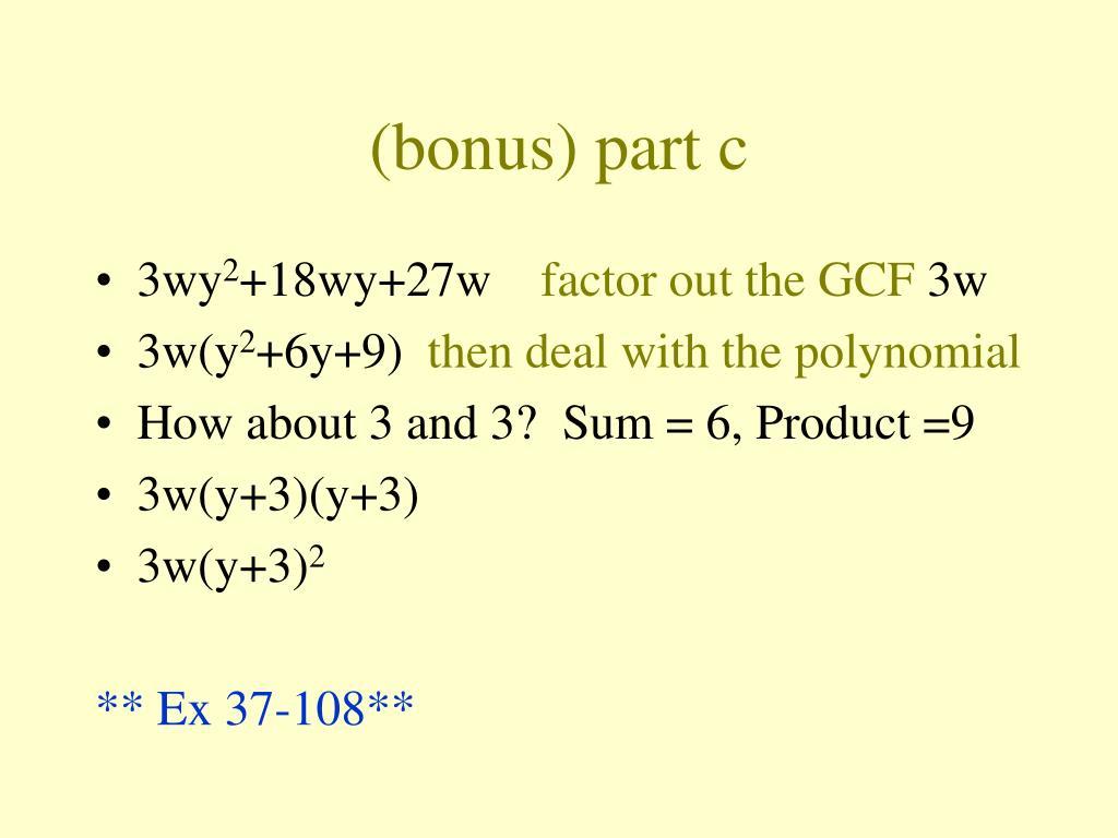 (bonus) part c