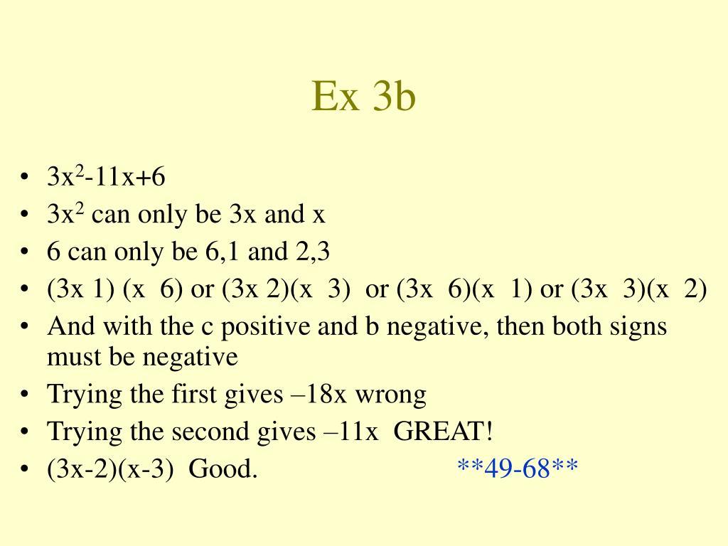 Ex 3b
