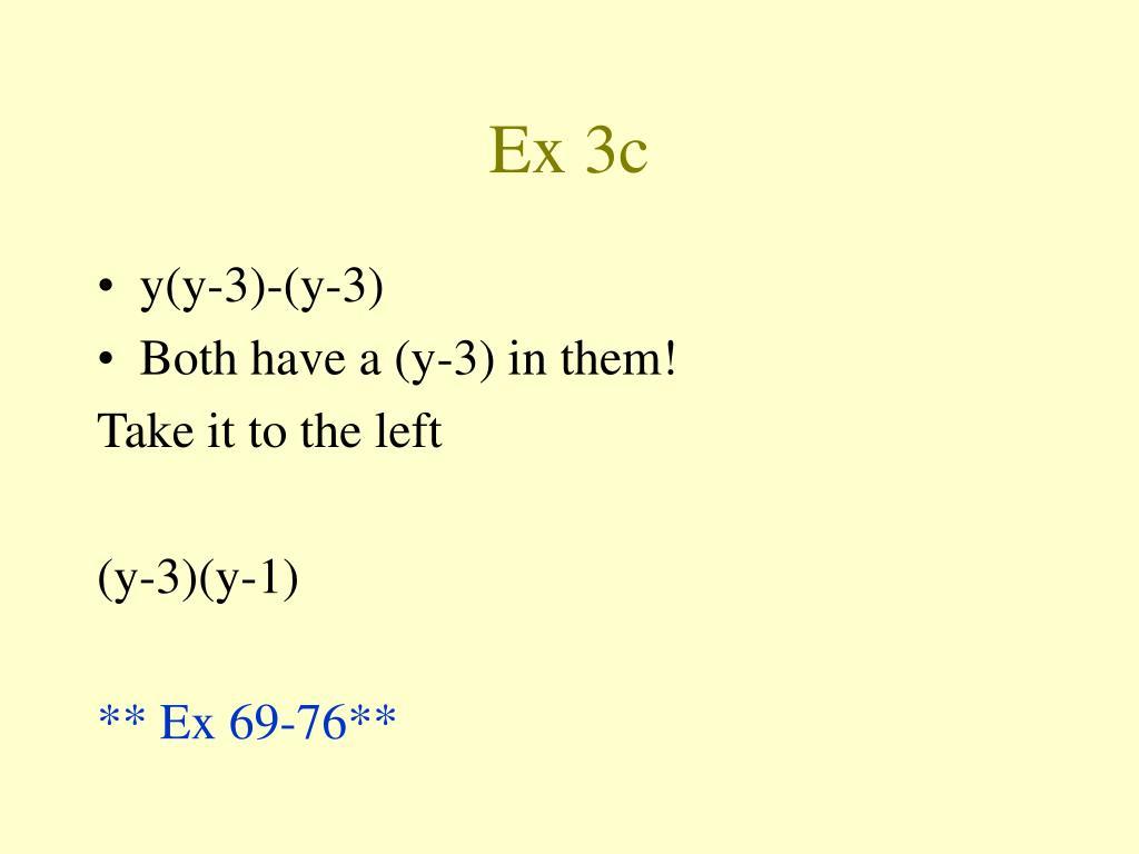 Ex 3c