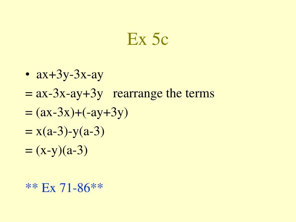 Ex 5c