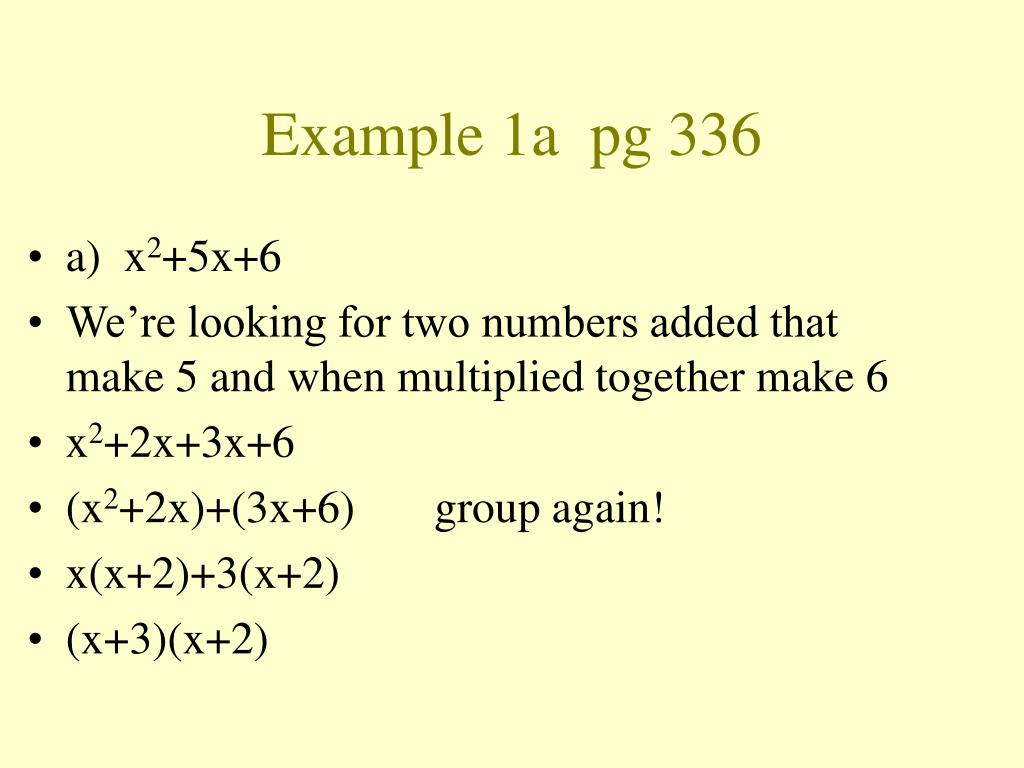 Example 1a  pg 336