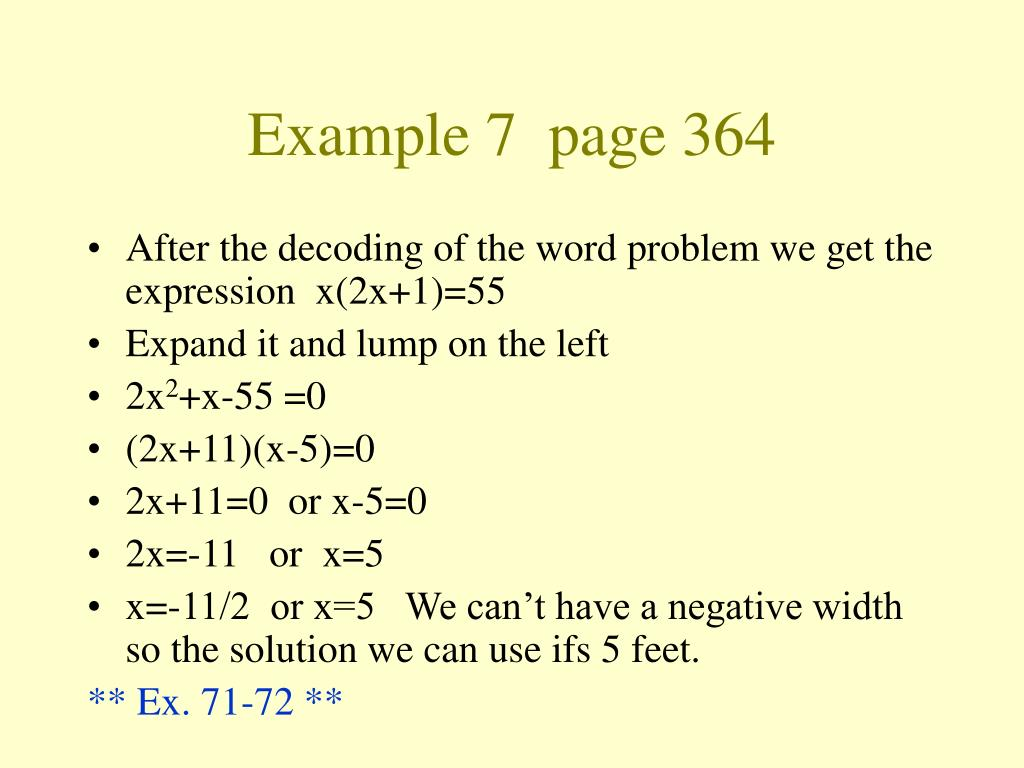 Example 7  page 364