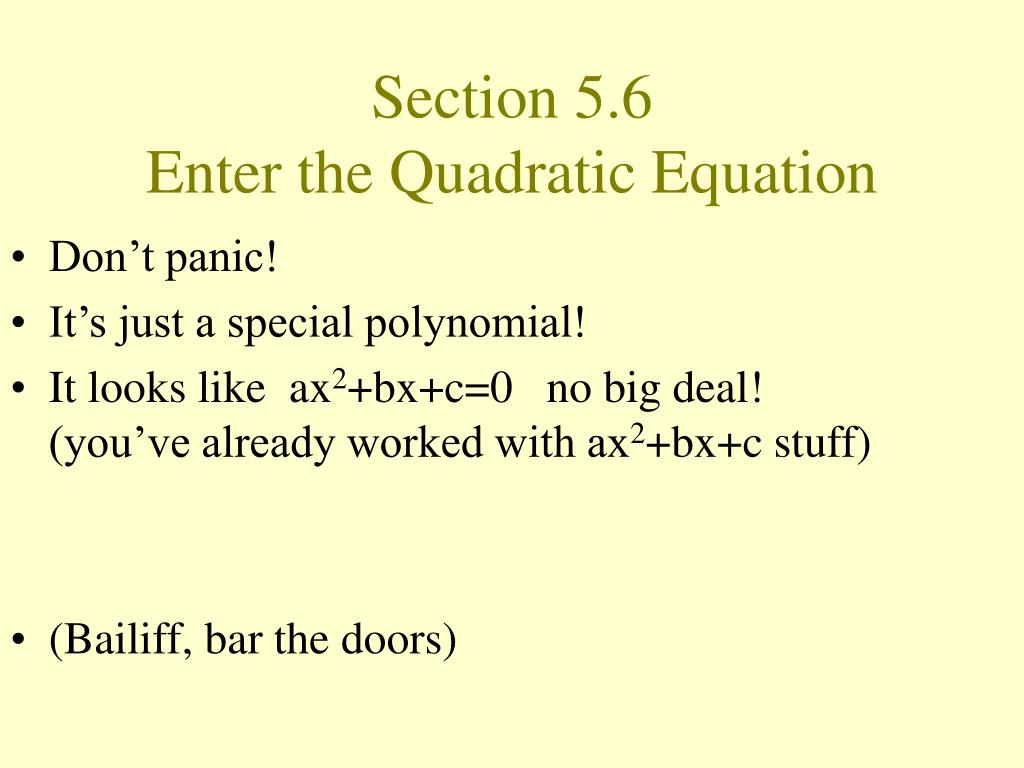 Section 5.6