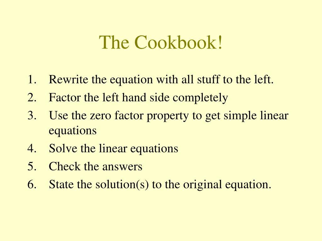 The Cookbook!