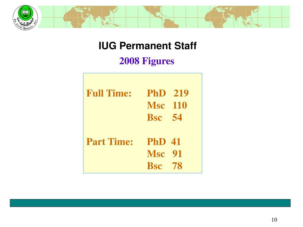 IUG Permanent Staff