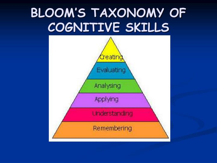 Bloom s taxonomy of cognitive skills