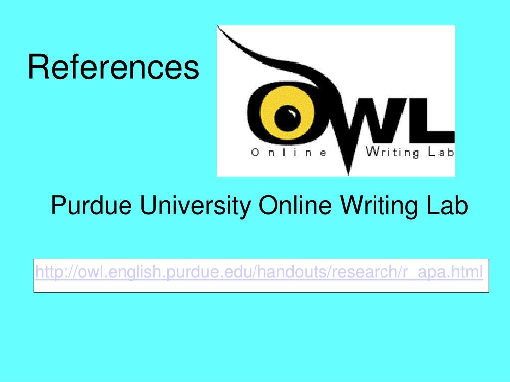 owl at purdue research paper apa format