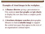 examples of visual images in the workplace