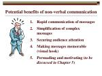 potential benefits of non verbal communication