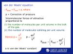 van der waals equation14