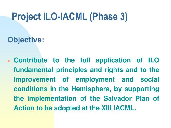 Project ilo iacml phase 3