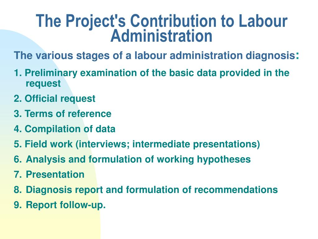 The Project's Contribution to Labour Administration