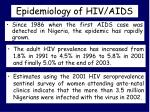 epidemiology of hiv aids