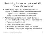 remaining connected to the wlan power management