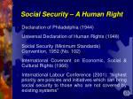 social security a human right