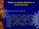 widely accepted definition of s ocial s ecurity