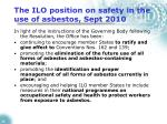the ilo position on safety in the use of asbestos sept 201026