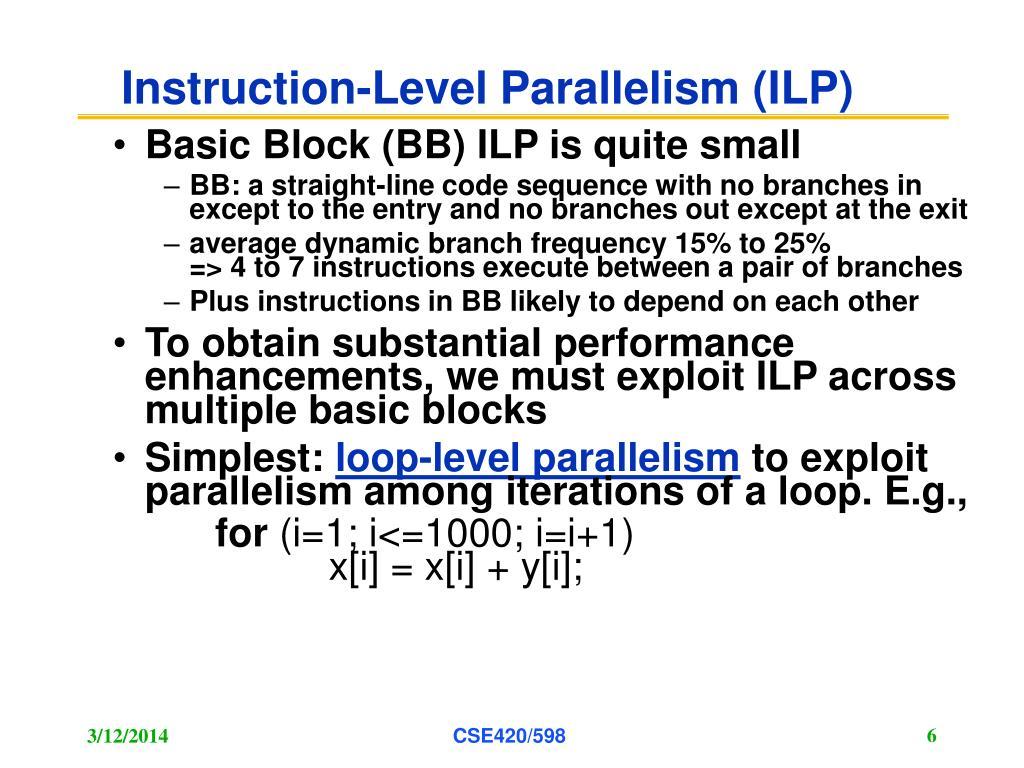 Instruction-Level Parallelism (ILP)