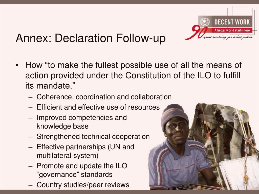 Annex: Declaration Follow-up