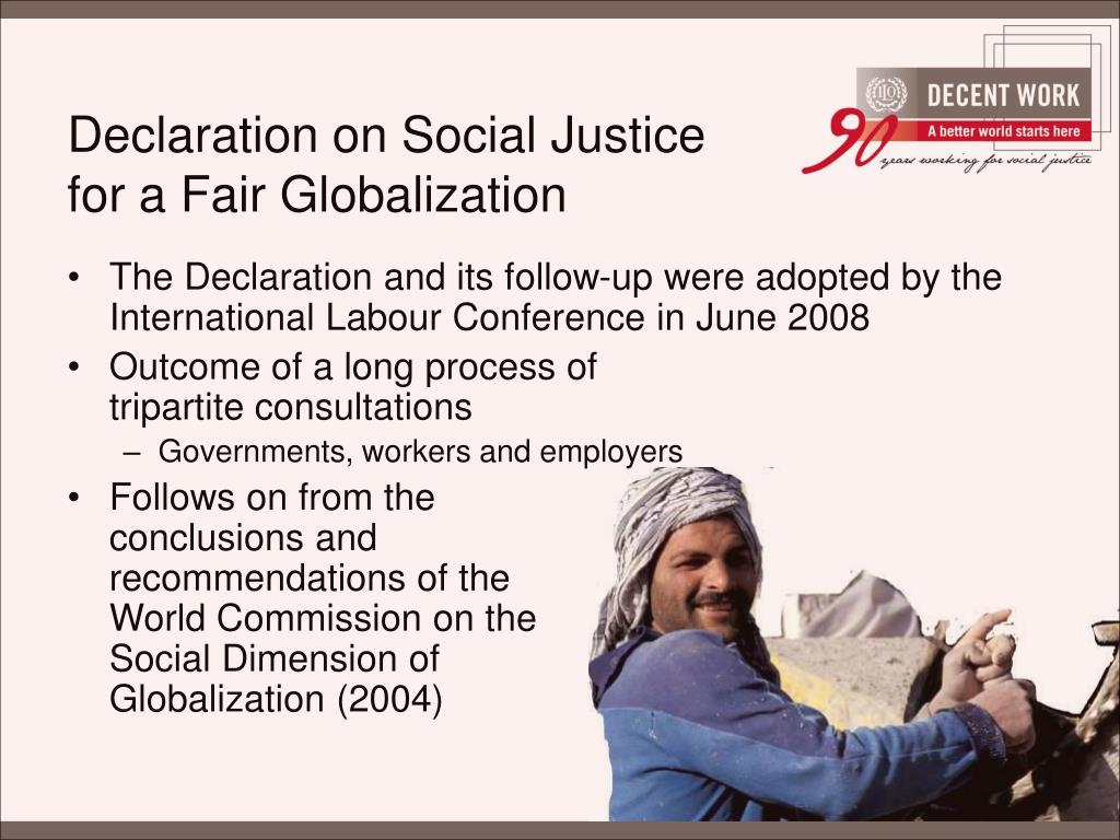 Declaration on Social Justice for a Fair Globalization