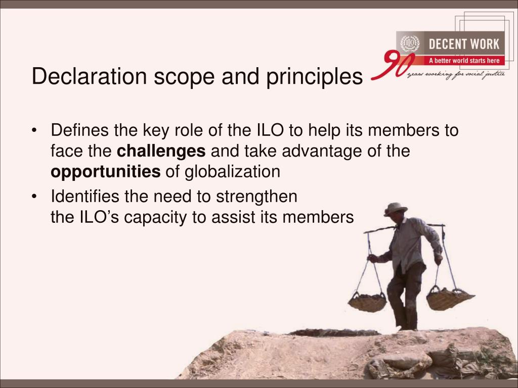 Declaration scope and principles