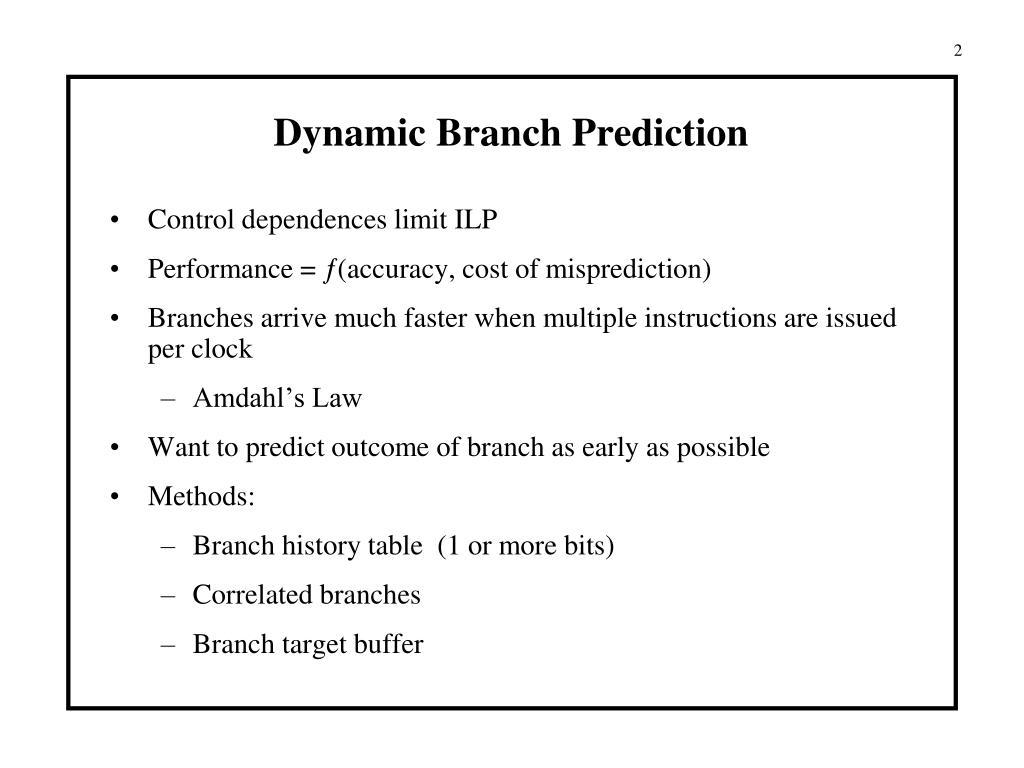 Dynamic Branch Prediction