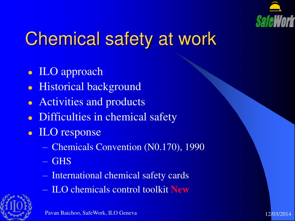 Chemical safety at work