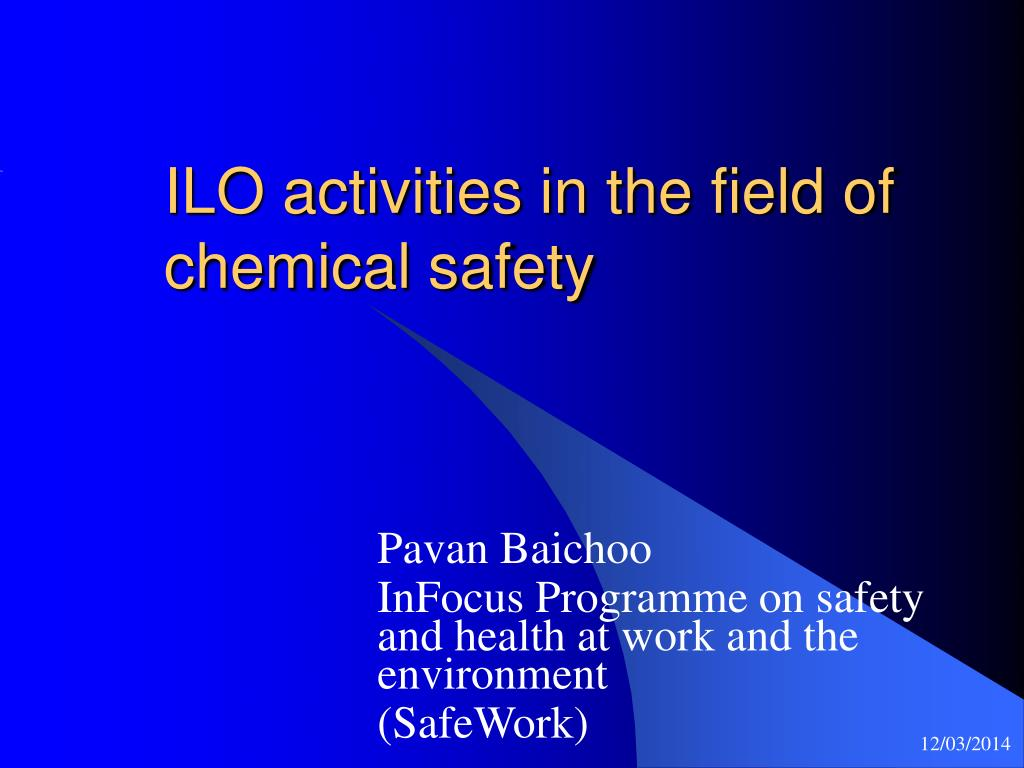 ILO activities in the field of chemical safety
