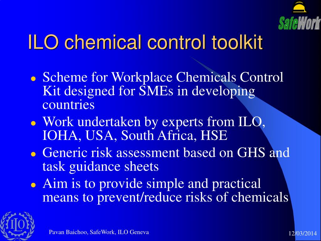 ILO chemical control toolkit