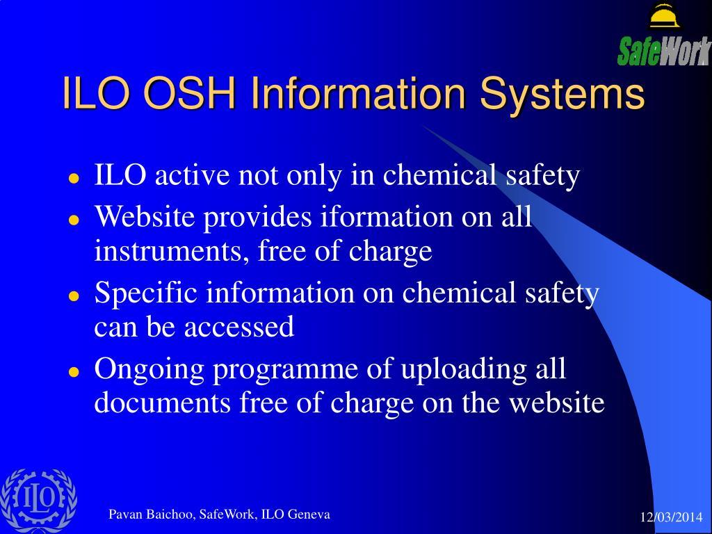 ILO OSH Information Systems