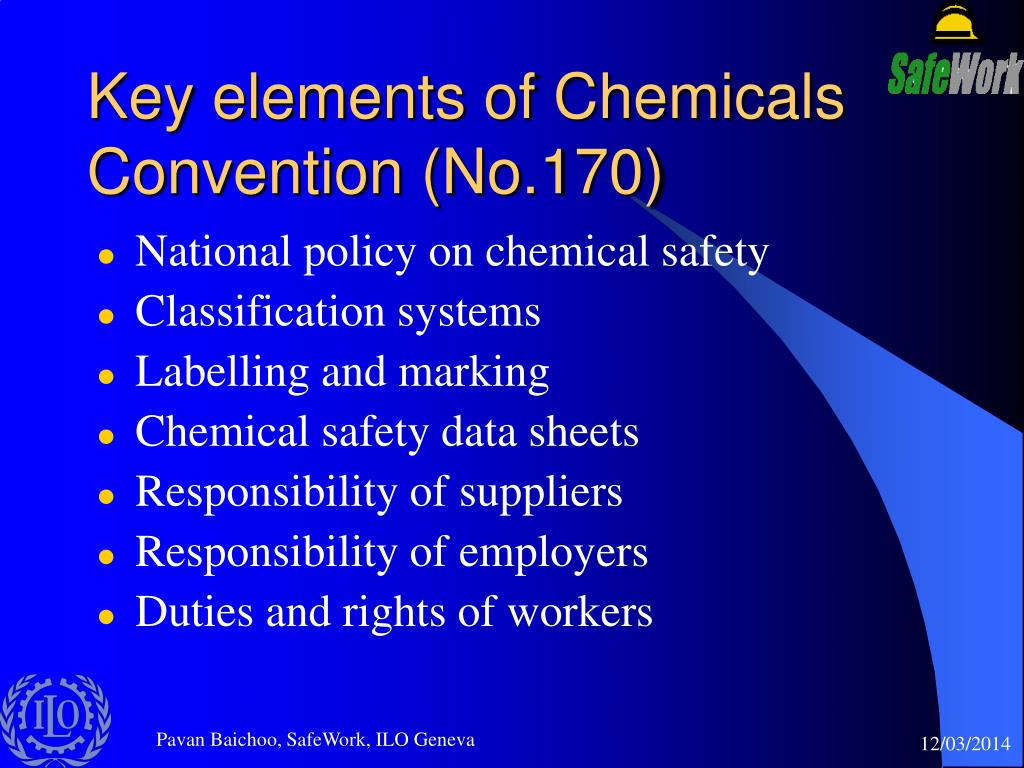 Key elements of Chemicals Convention (No.170)
