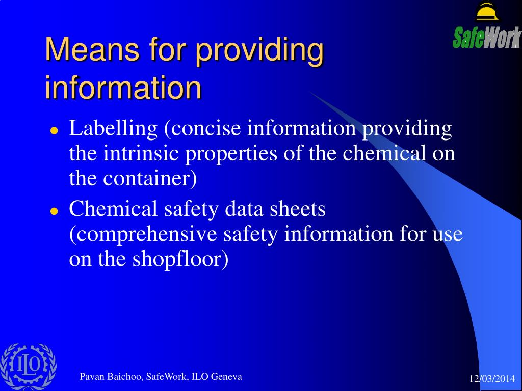 Means for providing information