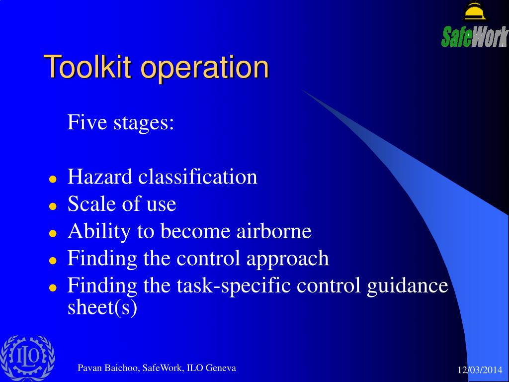 Toolkit operation