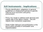 ilo instruments implications