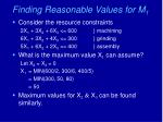 finding reasonable values for m 1