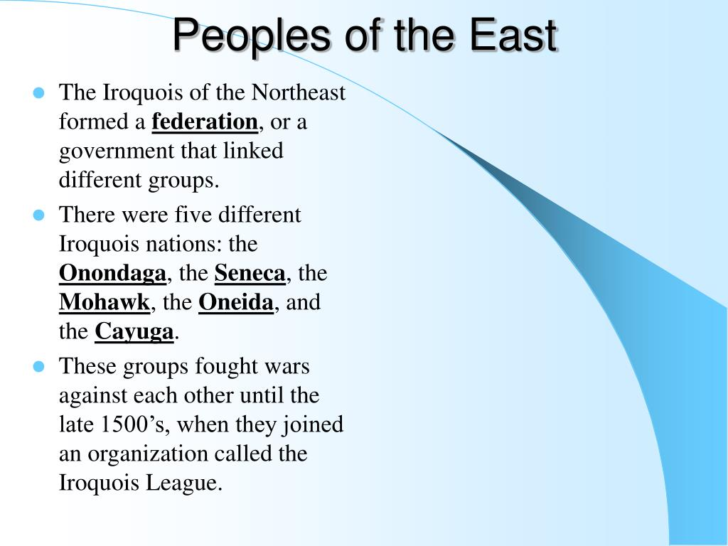 Peoples of the East