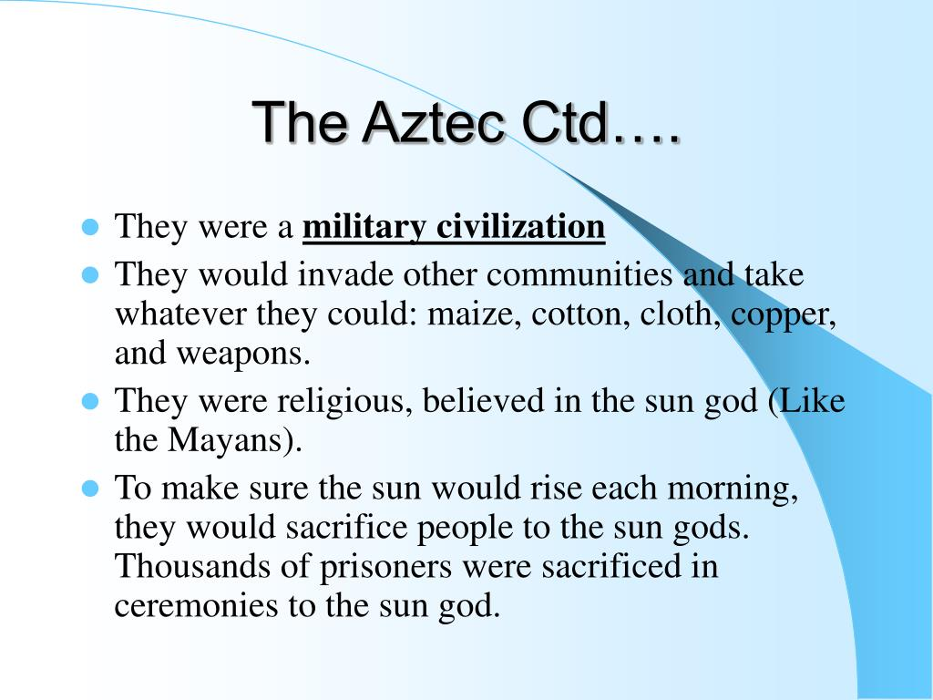 The Aztec Ctd….