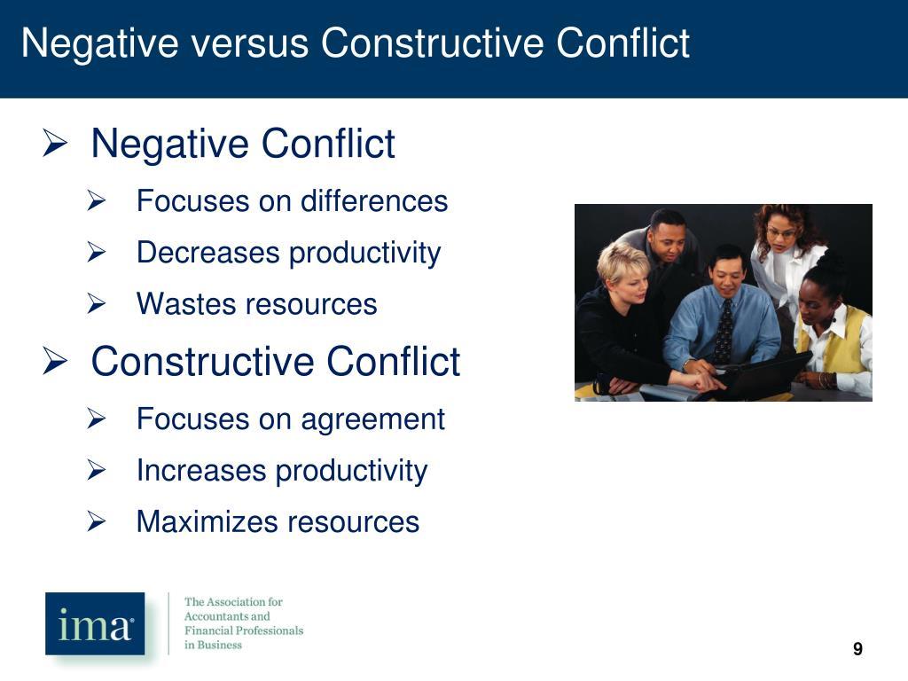 Negative versus Constructive Conflict