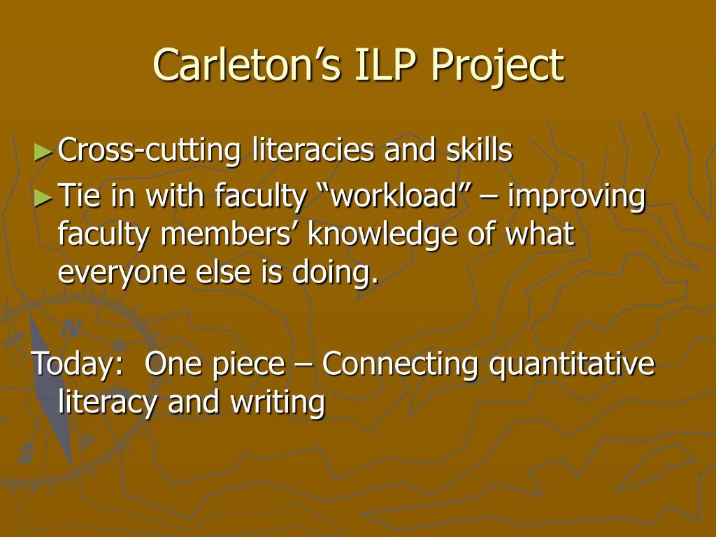Carleton's ILP Project