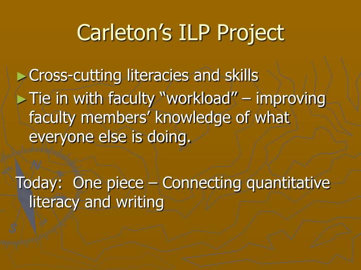 Carleton s ilp project