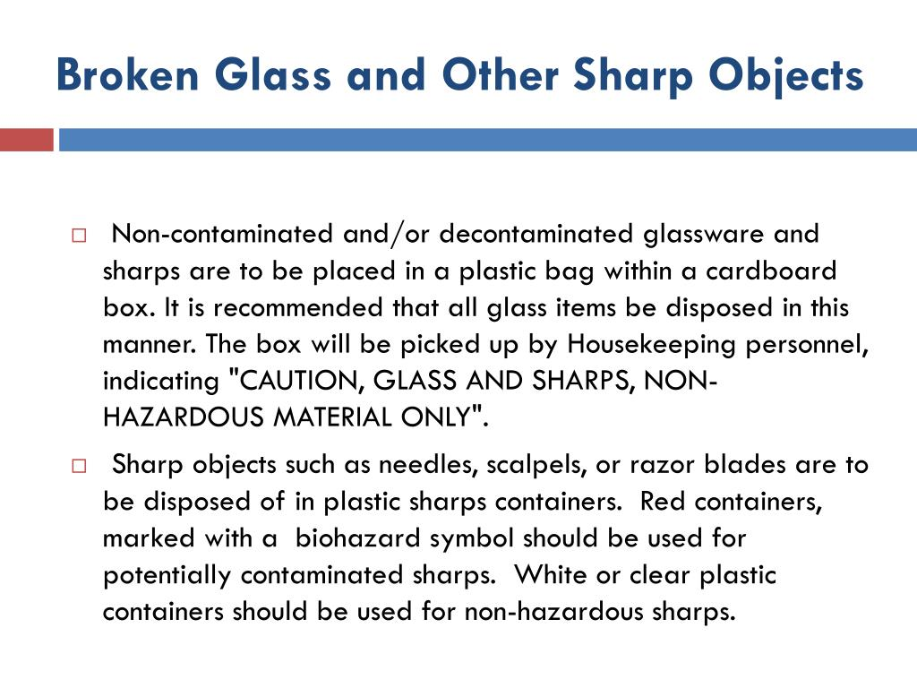 Broken Glass and Other Sharp Objects