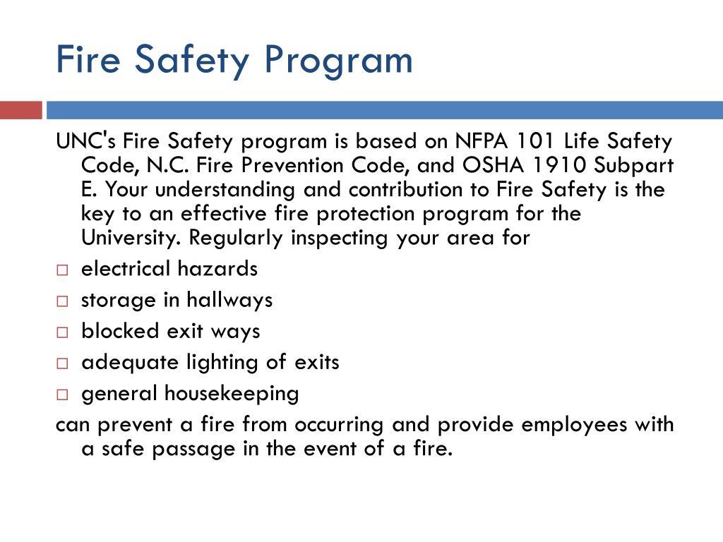 Fire Safety Program