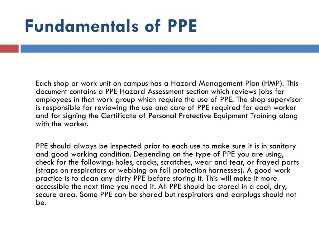 Fundamentals of PPE